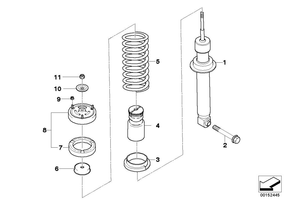 medium resolution of rear spring strut coil spring and parts