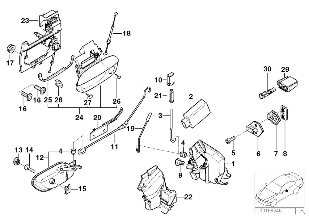 medium resolution of realoem com online bmw parts catalog bmw door lock diagram