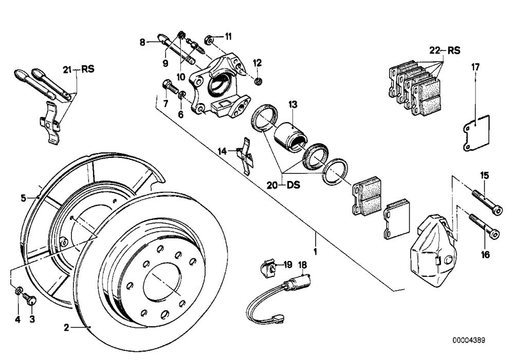 medium resolution of rear brake brake pad wear sensor