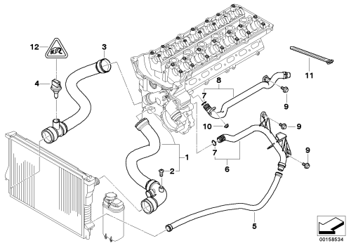 small resolution of bmw e46 cooling system diagram