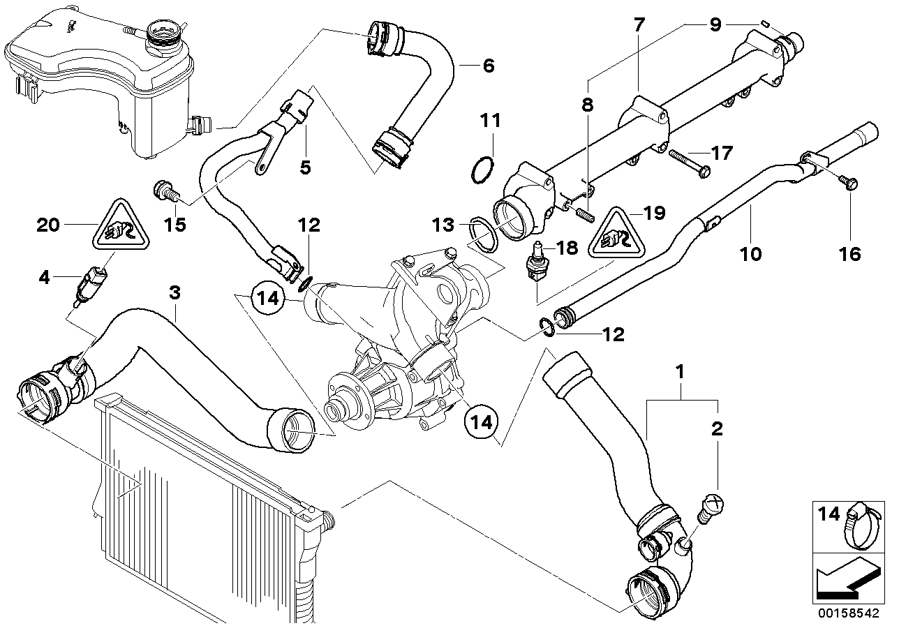 2006 Bmw X5 Radiator Diagram