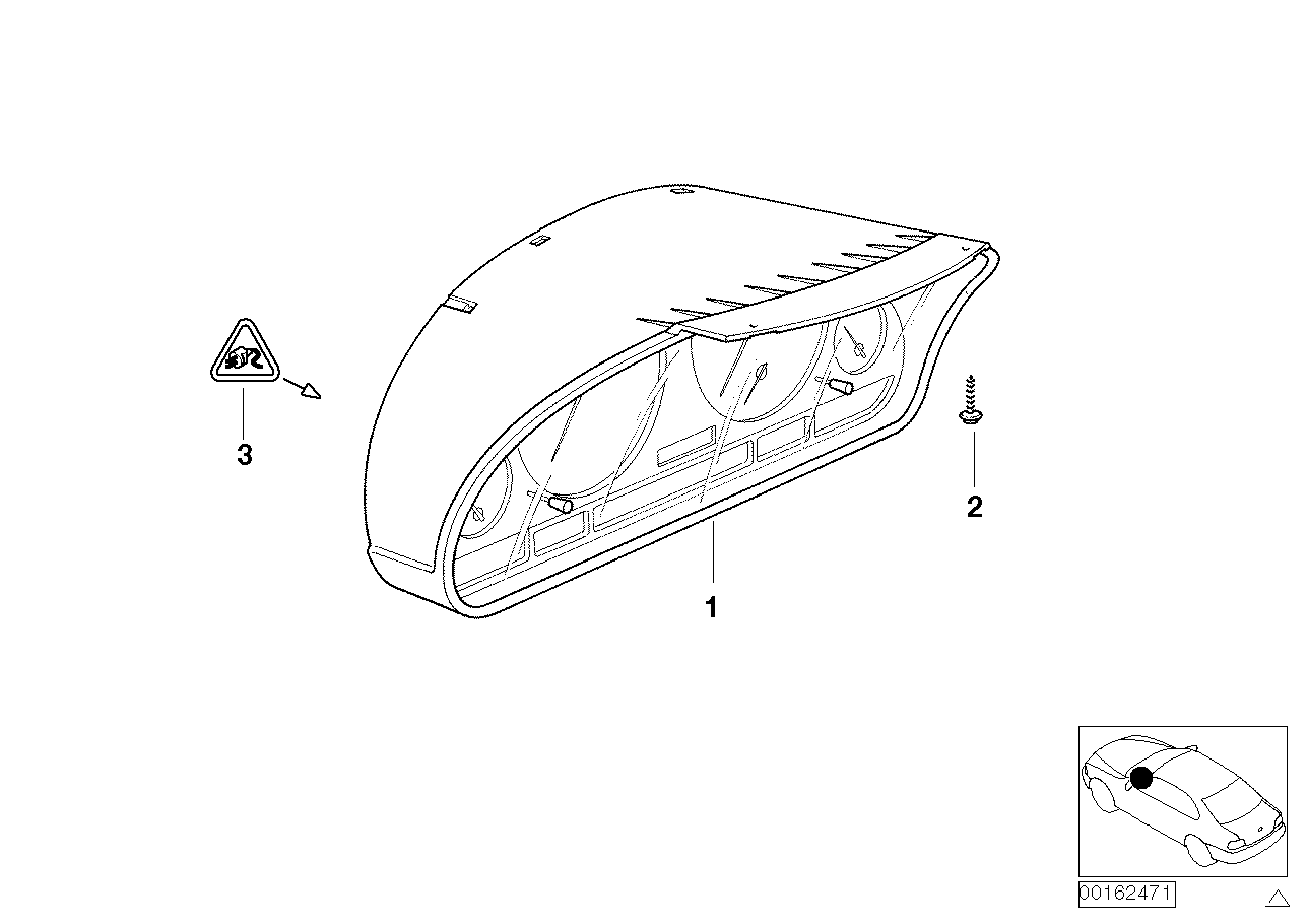 hight resolution of instrument cluster