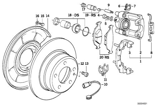 small resolution of rear brake brake pad wear sensor