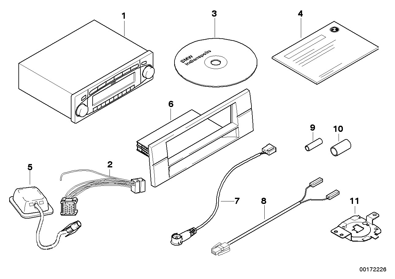 Replacement parts for radio navigation