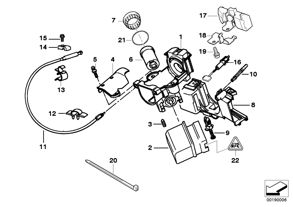 medium resolution of steering lock ignition switch