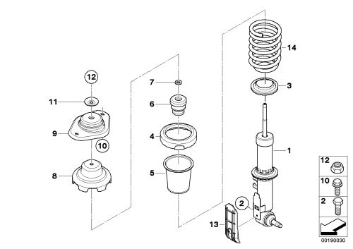 small resolution of rear spring strut coil spring and parts