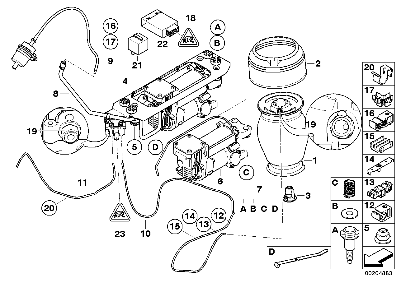 Bmw e61 air suspension wiring diagram realoem online bmw parts catalog