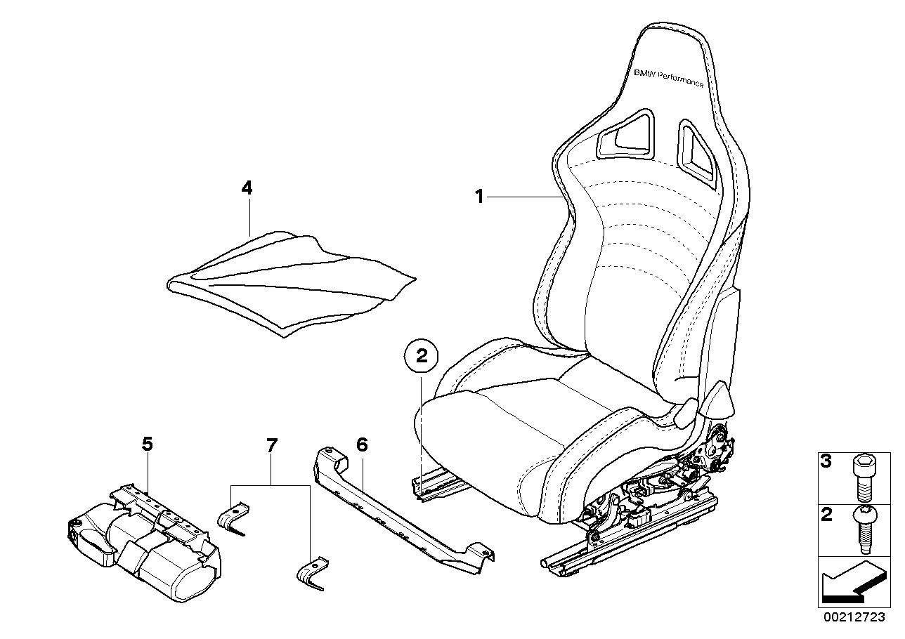 Bmw performance sport seat