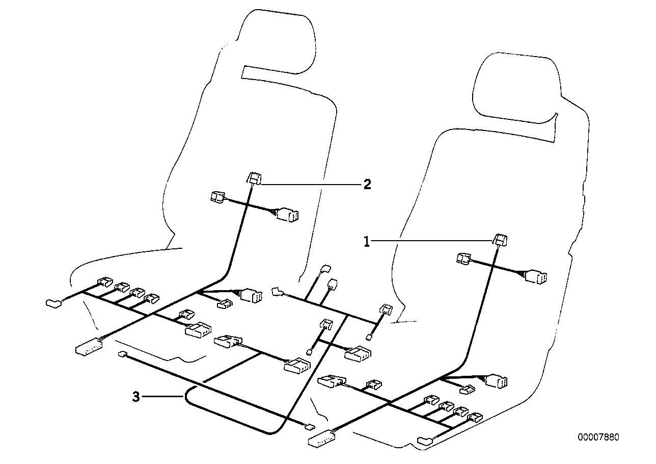 Wiring set seat