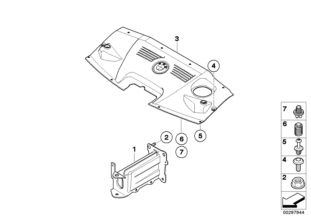 medium resolution of mounting parts engine compartment