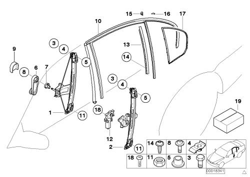 small resolution of door window lifting mechanism rear