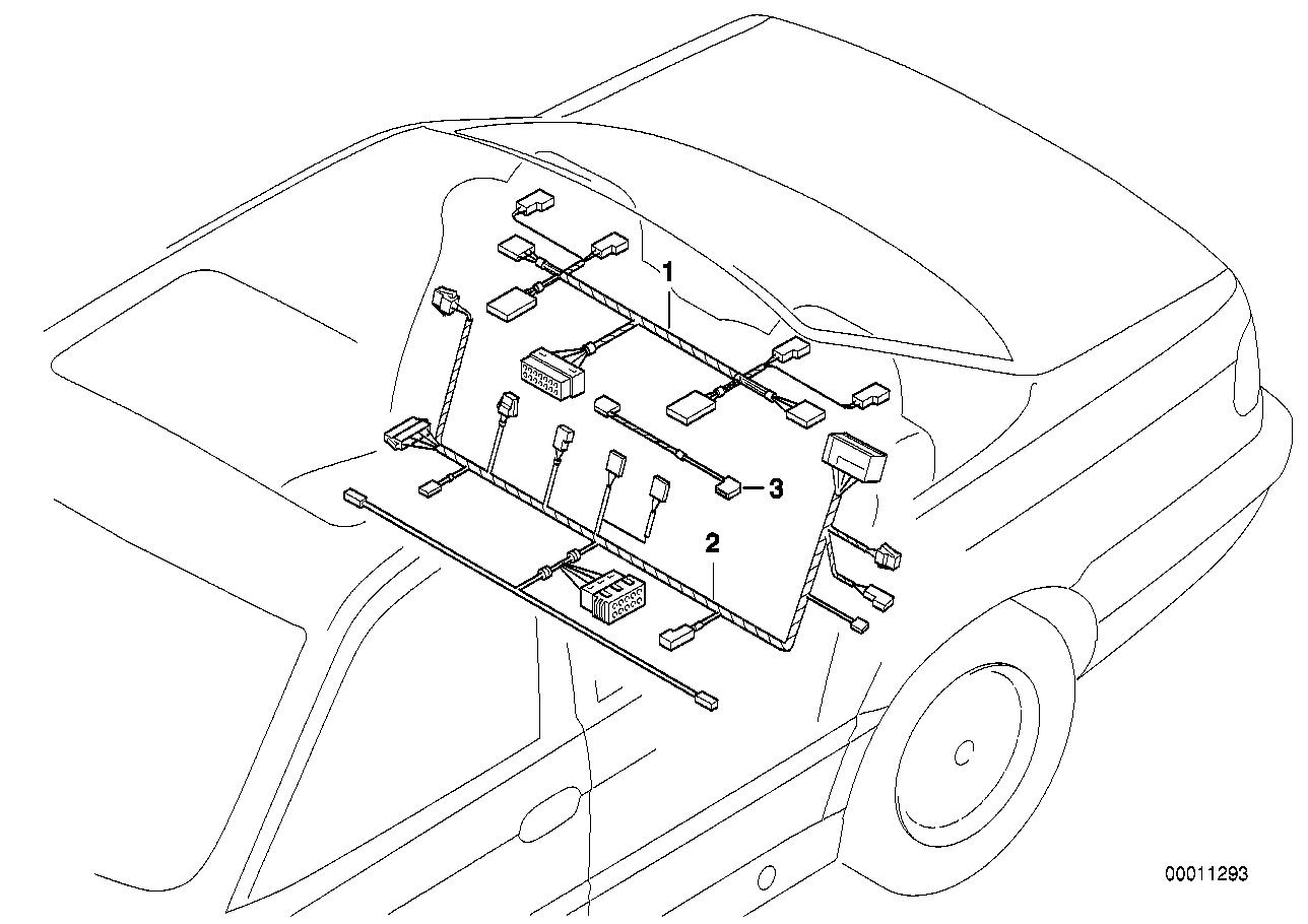 Rear seat wiring set