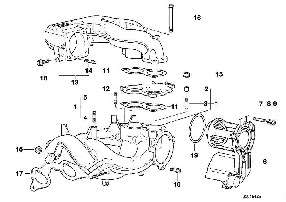 medium resolution of 3 e36 318ti intake manifold system