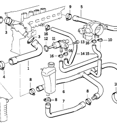 bmw 325i cooling system diagram wiring diagrams for 2004 bmw 325i vacuum hose diagram bmw 325i hose diagram [ 1288 x 910 Pixel ]
