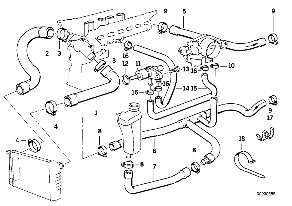 medium resolution of bmw 325i cooling system diagram wiring diagrams for 2004 bmw 325i vacuum hose diagram bmw 325i hose diagram