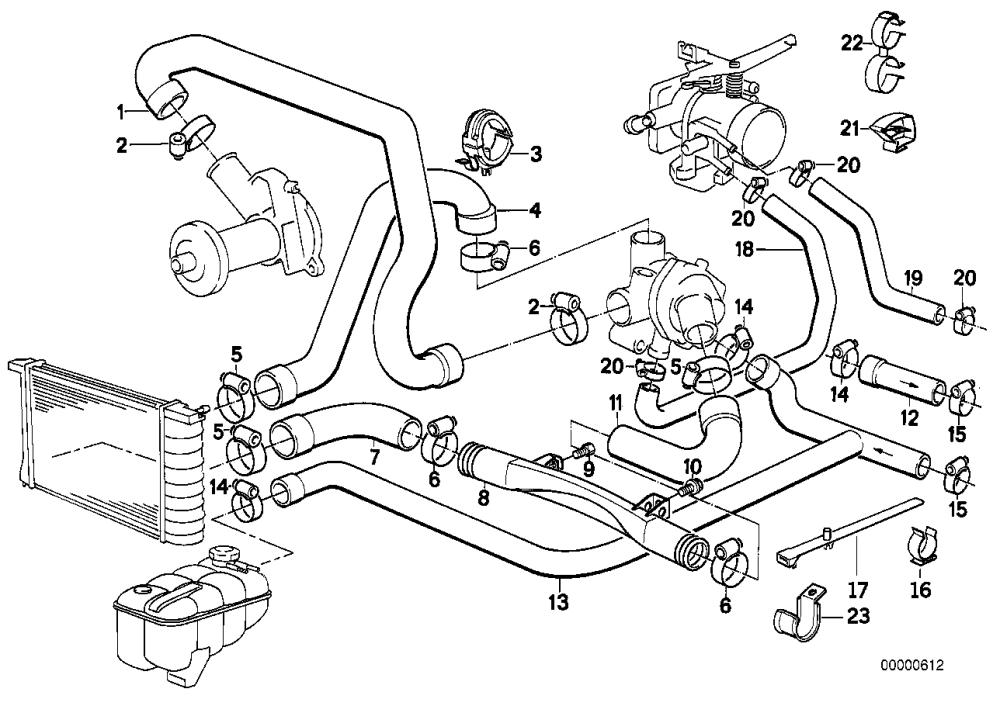 medium resolution of realoem com online bmw parts catalog heater hose diagram bmw hose diagram