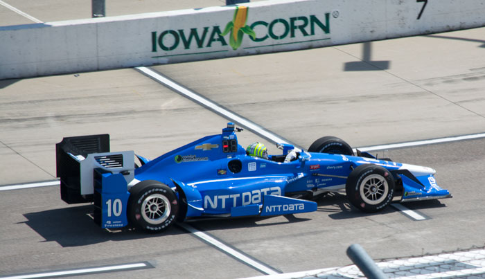 Tony Kanaan set the fastest lap in practice at the Iowa Corn 300