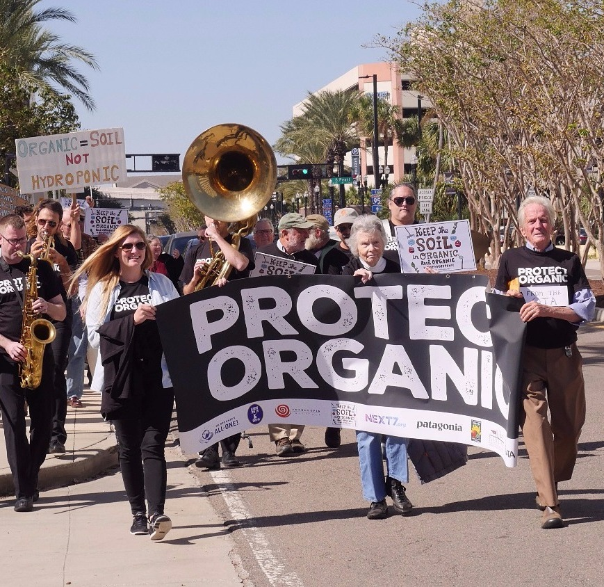 What does usda organic mean eliot coleman and other protesters march in jacksonville