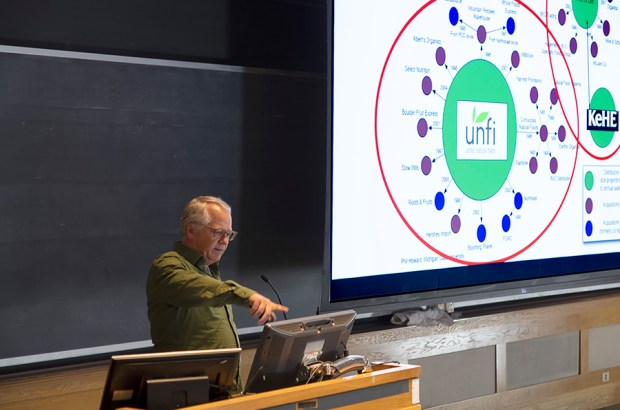 Alan Lewis speaks at the Real Organic Project Symposium in March, 2019.
