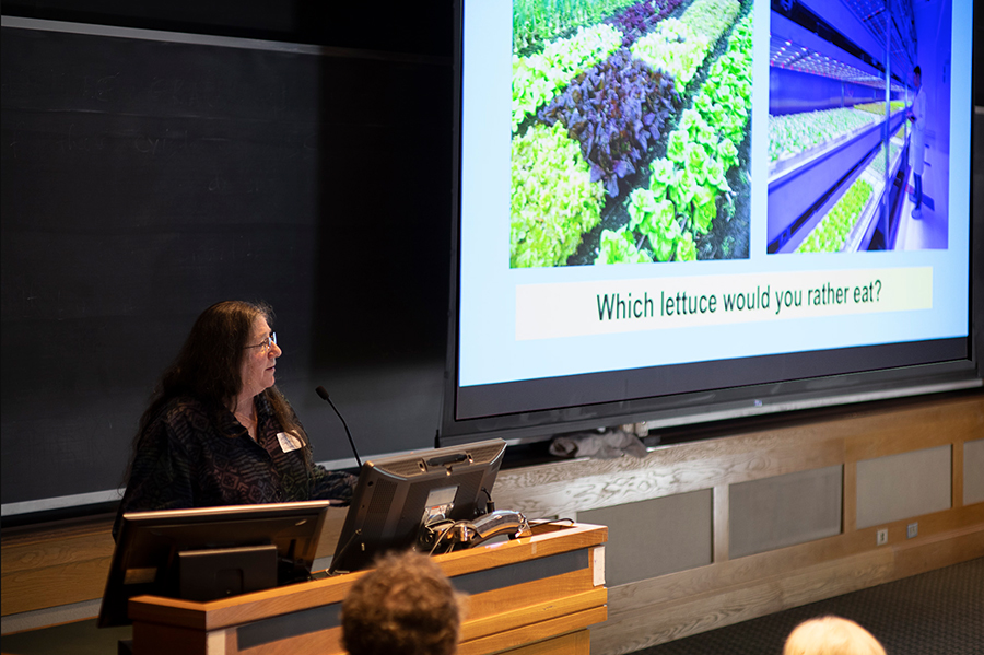 Harriet Behar speaks at the Real Organic Project Symposium in March, 2019.