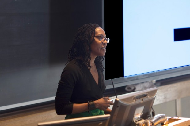 Onika Abraham speaks at the Real Organic Project Symposium