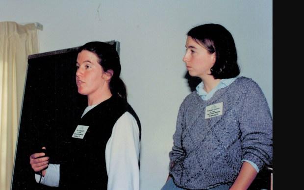 young Enid Wonnacott during her beginnings at NOFA VT
