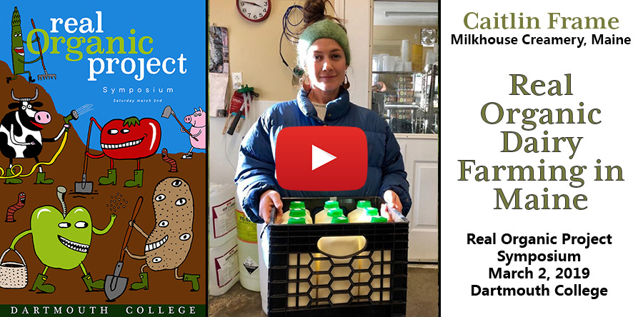 Video thumbnail featuring Caitlin Frame holding a milk carton full of fresh milk from the Milkhouse creamery in Monmouth Maine