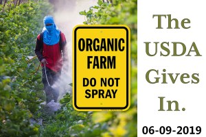 farm worker spraying crops while wearing protective gear