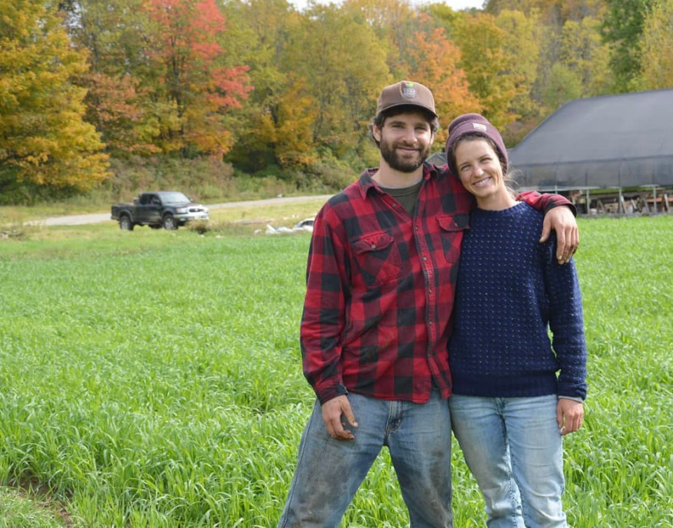 Taylor and Jake Mendell at Footprint Farm Vermont