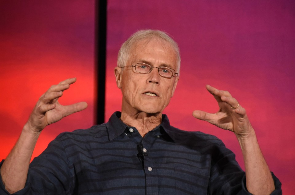 Climate activist Paul Hawken on stage