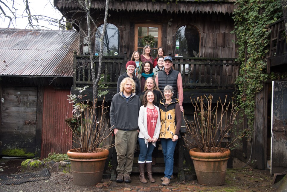 The Frey team at the old winery office