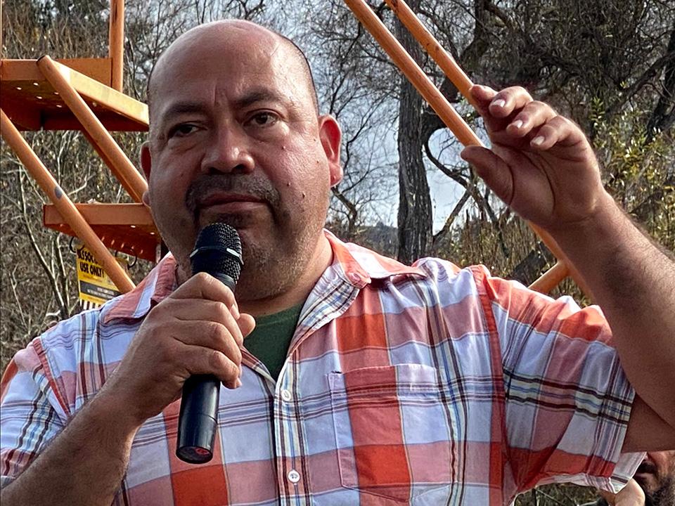Javier Zamora giving a tour of JSM Organics.