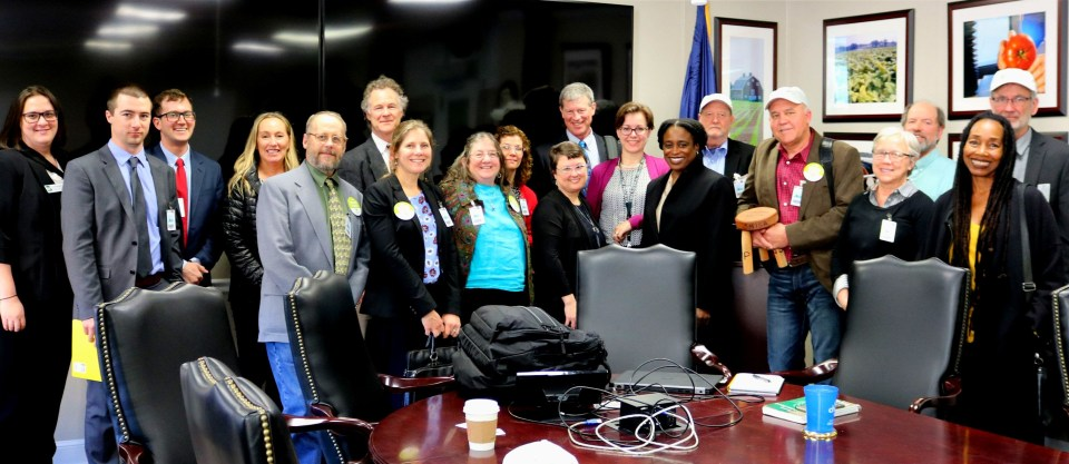 Many organic farmers meeting with the NOP in Washington.