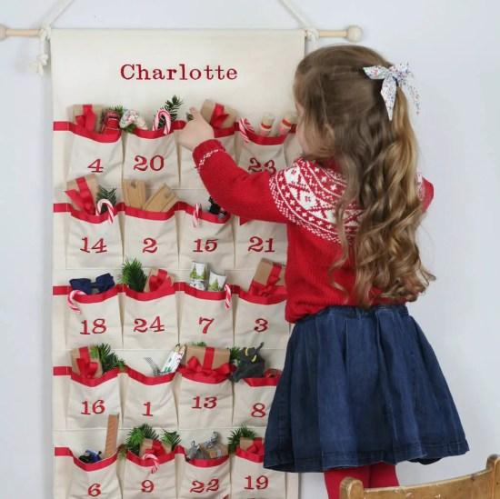 Luxury Personalised Fabric Advent Calendar