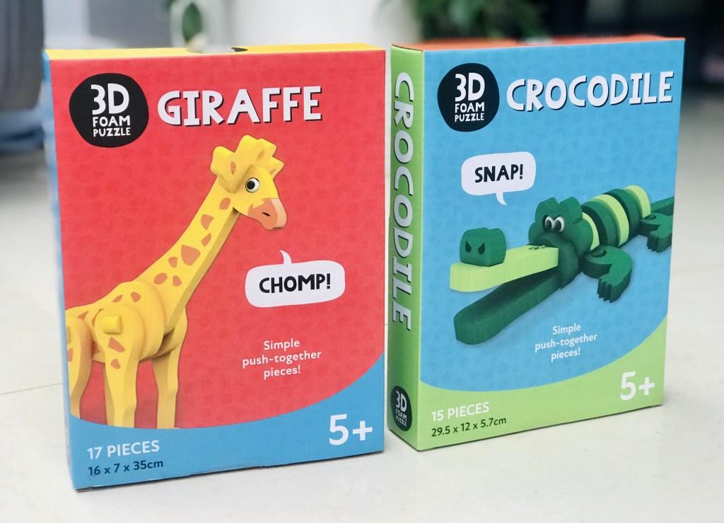 Milly & Flynn Giraffe & Crocodile 3D Foam Puzzles