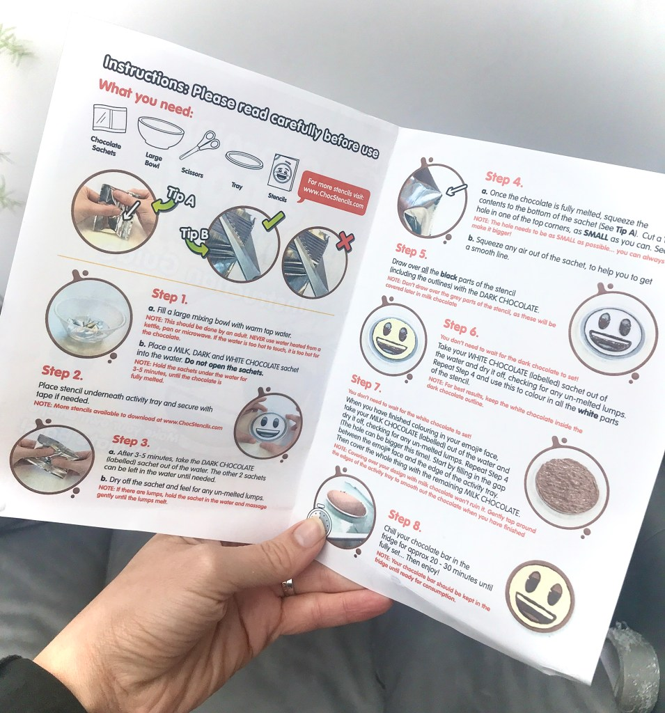 Chocolate Emoji Maker Instructions Booklet