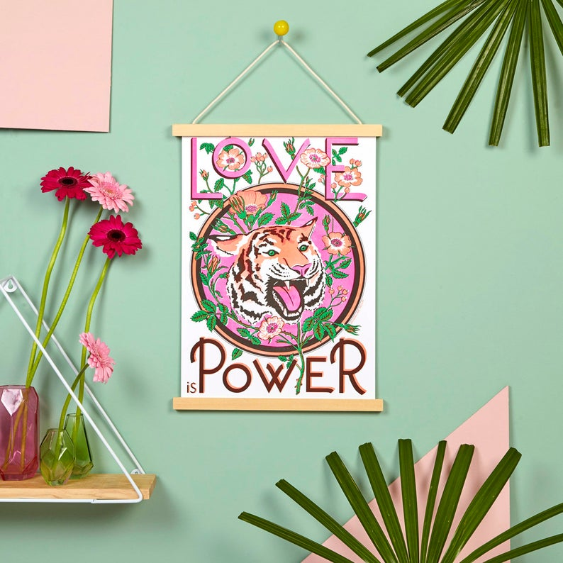 love is power print - valentine's gift ideas