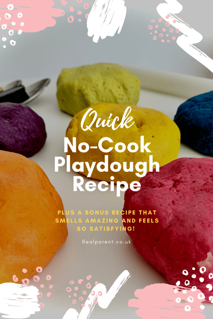 No-Cook Playdough Recipe  [Plus Bonus Tips On How To Make It Even More Fun]