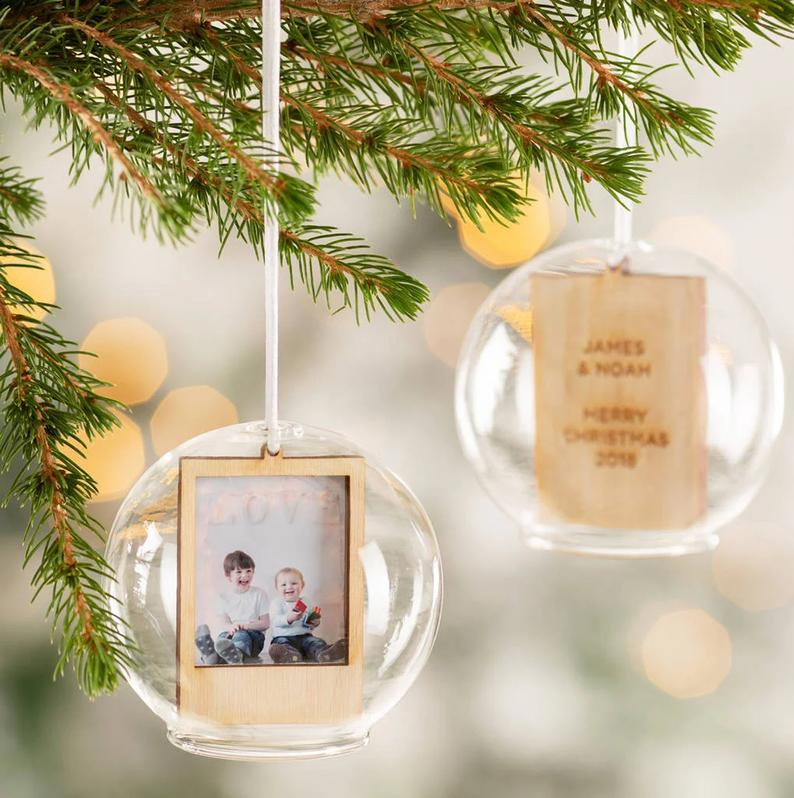 Personalised Christmas Glass Dome Bauble