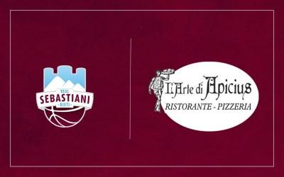 """Il ristorante pizzeria """"L'Arte di Apicius"""" partner della Real Sebastiani Rieti"""