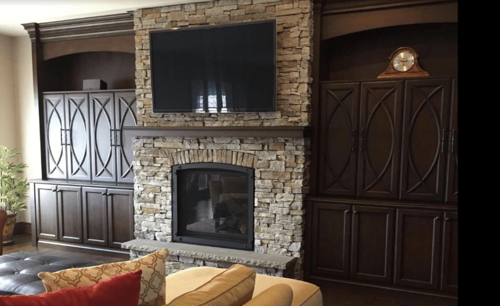 11 Stone Veneer Fireplace Surround Design Trends  Where