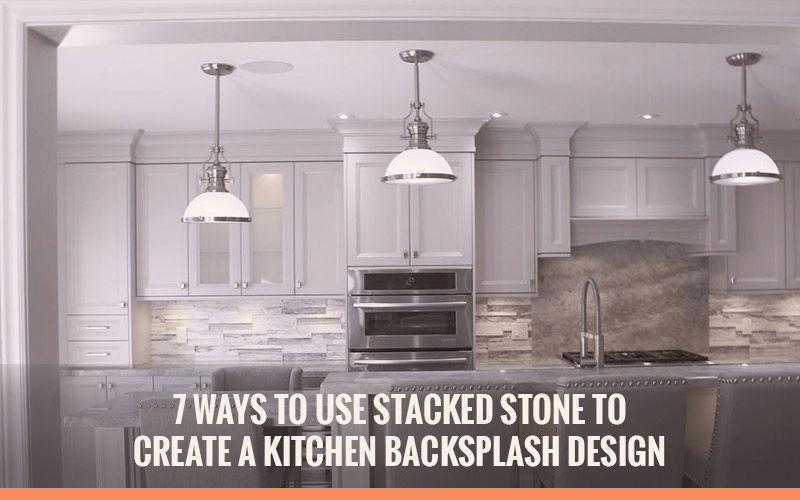 kitchen backsplash design covered outdoor 7 ways to use stacked stone create a header