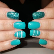 shimmering blue nails gorgeous