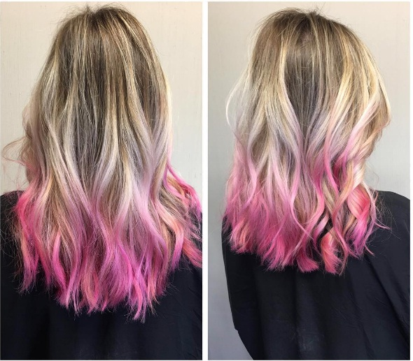 pink tips are a