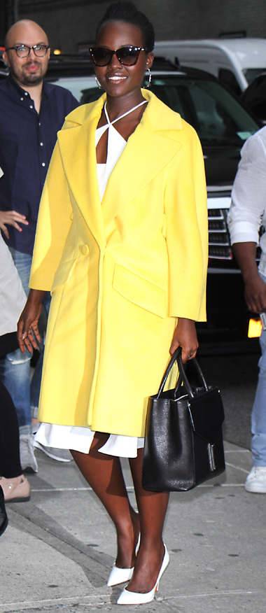 Lupita Nyong'o At 'The Late Show With Stephen Colbert' In NYC