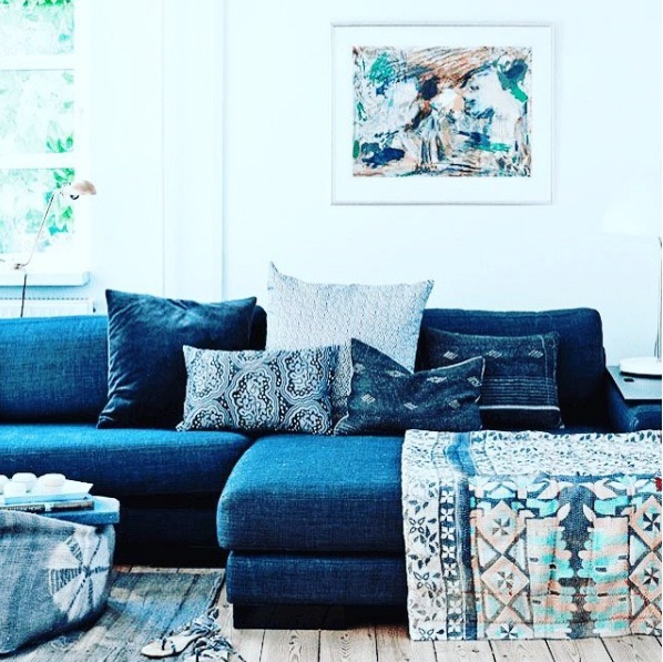denim living room furniture design with sectional sofa decor is a surprising new interior trend lifestyle blue