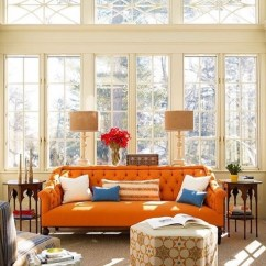 Orange Living Room Decorating Ideas Toy Storage For Burnt Decor Makes A Beautiful Splash At Home Lifestyle