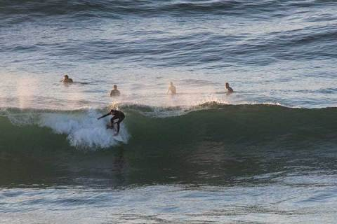 Long Reef surfing