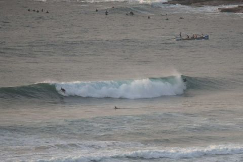 Rights and lefts on tap at Dee Why beach at 0630