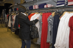 woman buying clothes